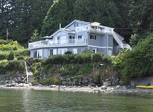The Beach House from the water